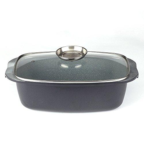 Royalty Line Casserole de cuisson avec couvercle en verre 34 cm
