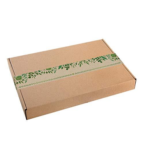 Logbuch-Verlag 5 große Geschenkschachteln Kraftpapier MIT AUFKLEBER bunt Verpackung DHL Maxibrief 30,5 x 20,2 x 4,5 cm Geschenkbox Geburtstag Schachtel natur braun