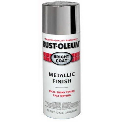 Rust-Oleum 7715830 Stops Rust Bright Coat Metallic Spray Paint, 11 oz, Aluminum