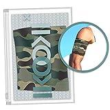 IKOOKI Abbott Freestyle Libre - Dexcom G4 G5 G6 - Guardian Sensor - Omnipod - Brazalete Protector del Sensor De Glucosa - Flexible Cómodo y Reutilizable - Color Camuflaje – Talla 40