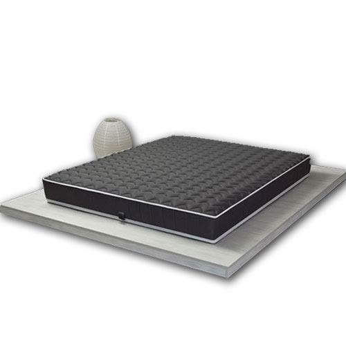 Pure Latex Wave Colchón 100% látex Black Label 90x 190cm/Estructura Transpirable monobloque tecnología Dunlop–7Zonas, Negro, 80x200 cm - Médium