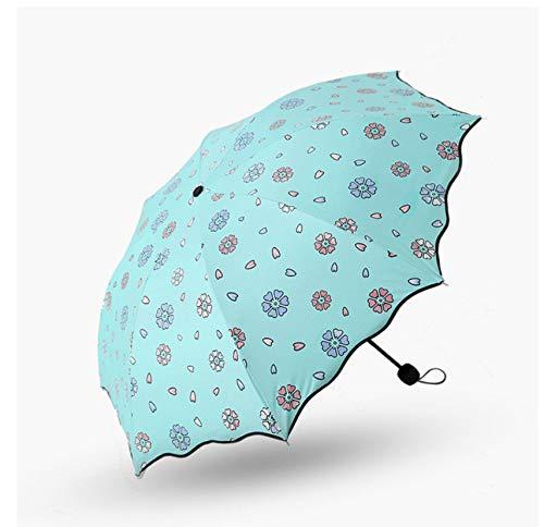 Ombrello Da Donna In Fiore Ombrello Antivento Crema Solare Fiore Magico Cupola Ombrello Pieghevole Per Pioggia A Prova Di Raggi Ultravioletti A2