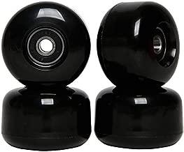 FREEDARE Skateboard Wheels with Bearings 54mm Street Wheels Skateboard Tricks (Black,Set of 4)