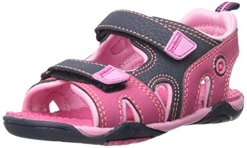 pediped Navigator, Mädchen Sport- & Outdoor Sandalen , Pink - Pink (Pink Navy) - 25 EU ( 7 - 7.5 UK )