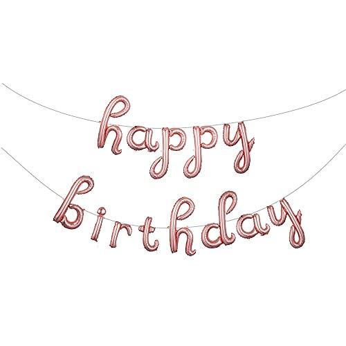 Wsxyhn Globo Globo De Cumpleaños De 16 Pulgadas, Decoración De Oro Rosa, Letras De Feliz Cumpleaños, Juego De Globos De Papel De Aluminio, Suministros De Fiesta De Cumpleaños, Verde Militar