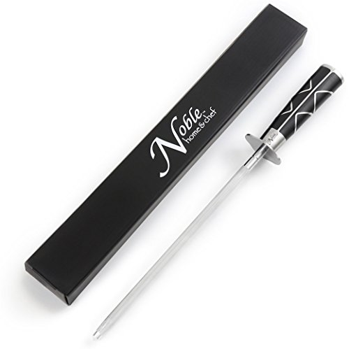 """Professional Knife Steel Magnetized for Safety. Our Honing Rod Has an Oval Handle for a Firm Grip and is Built For Daily Use, Perfect for Chefs and Home Cooks Alike! (12"""", Luxury)"""