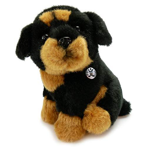 Kuscheltiere*biz Kleiner Rottweiler ENZO sitzend 12 cm Plüschtier Plüschrotti Plüschhund Hund