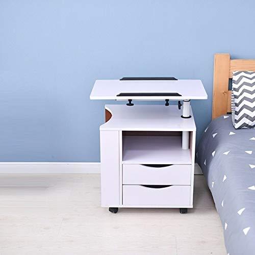 LAA Notebook Oficina Bandeja de la Cama Soporte Ajustable Escritorio del Ordenador portátil escritorios portátiles Estudio de Mesa Informática Mesa Cama Ruedas (Color : Version B)