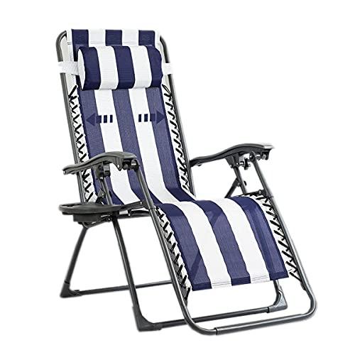 HDZW Silla Plegable de Ocio al Aire Libre, sillón reclinable Multifuncional, Respaldo Ajustable