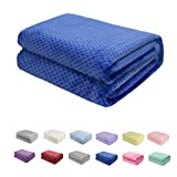 Baby Blanket Flannel, Cozy Throw Blankets for Newborn Infant and Toddler, Super Soft and Warm Receiving Baby Blanket for Crib Stroller (Royal Blue 3040')