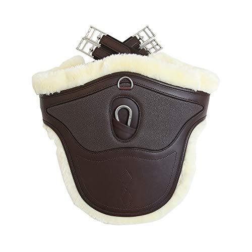 Kentucky Horsewear Lammfell Stollengurt Spezial braun Größe: 140 Farbe: braun