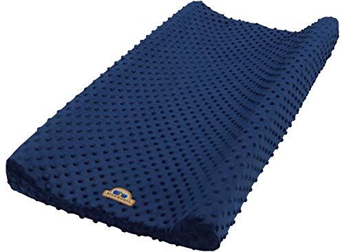 BlueSnail Ultra Soft Minky Dot Changing Pad Cover Navy