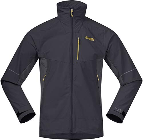 Bergans Slingsby LT Veste Softshell Homme, Solid Charcoal/Waxed Yellow Modèle S 2020 Veste Polaire
