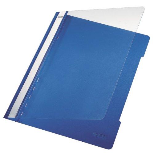 Leitz 41910035 Standard Hefter (A4, langes Beschriftungsfeld, PVC) blau