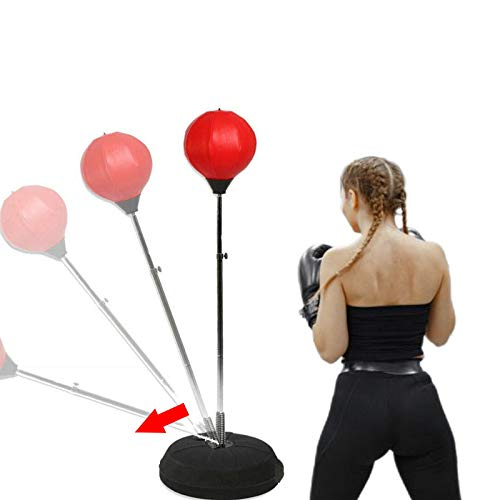 FFitness PUNCHING BALL BOXE REGOLABILE PER ADULTI | STAND SPEED BALL SFERA DA PUNZONATURA SACCO DA...