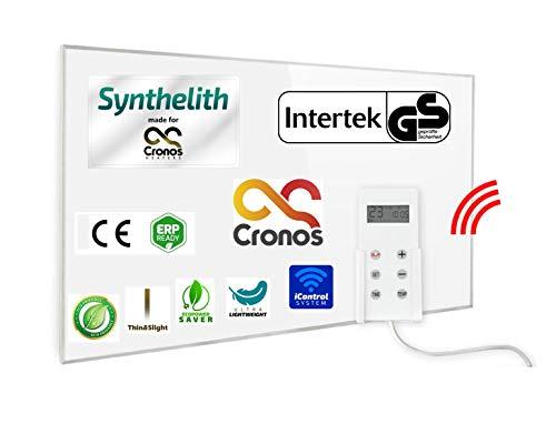ORIGINAL CRONOS APP WiFi Heizpaneel IR Infrarot Heizung mit Thermostat und Überhitzungsschutz - WiFi Modul 2.0-600W Heizplatte - Deutscher Hersteller - GS Prüfsiegel von Intertek
