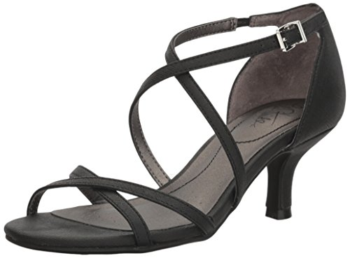 LifeStride Women's Flaunt Dress Sandal, Black, 8 M US