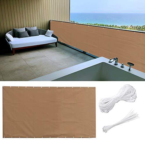 Aiyaoo Lona Terraza 90x600cm Resistente al Sol Toldos Laterales para Balcon con...