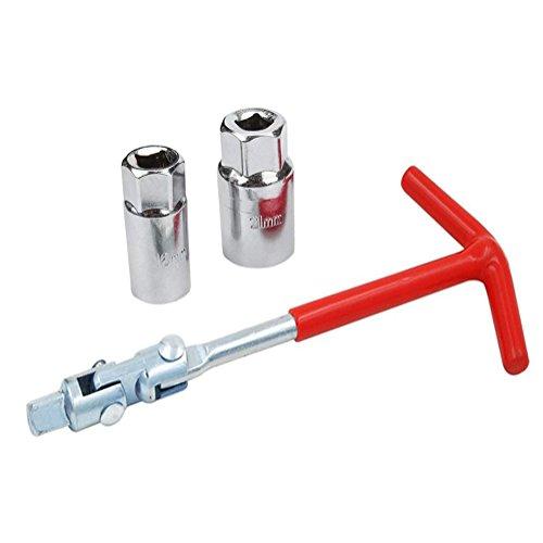 Holoras Zündkerzen Steckschlüssel Set, Universal Steckschlüsselsatz, Antrieb 16 mm mit 21mm