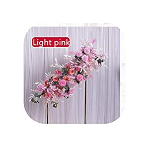 Heart-To-Heart Artificial Flower Ball Centerpieces with Flower Row Arrangement Runner Decor Wedding Arch Wall Table Flower Pompom Rose Peonies,Light Pink A
