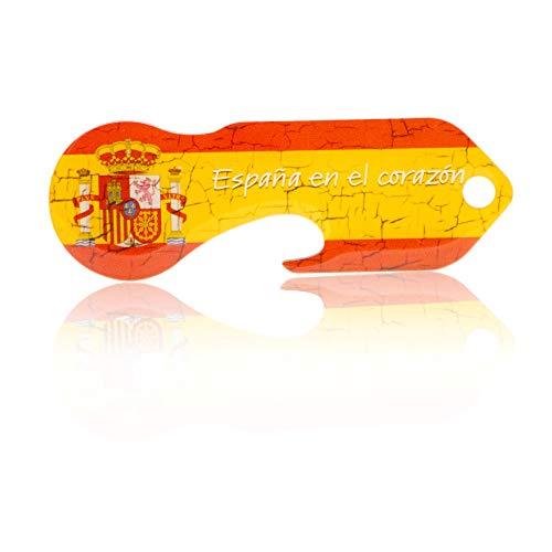 Einkaufswagenlöser Code24 Spanien, Schlüsselanhänger mit Einkaufschip & Schlüsselfinder, inkl. Registriercode für Schlüsselfundservice, Einkaufswagenchip mit Profiltiefenmesser, Key Finder