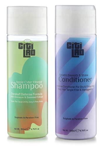 Citilad Apple Cider Vinegar Shampoo With Keratin Smooth & Shine Conditioner, 200 ml (Combo of 2)
