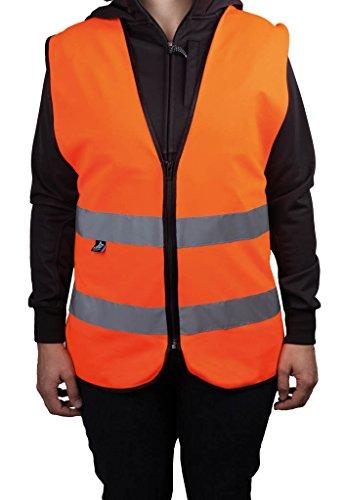 4business Warnweste mit Reißverschluss, fluoreszierend orange