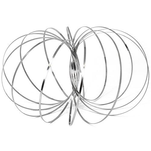 com-four® Magisches Armband aus Metall, Flow Ring für Kinder und Erwachsene, Kinetisches Spielzeug (01 Stück)
