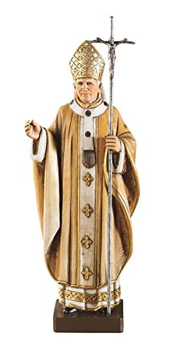 Catholic Brands Saint Pope John Paul II The Great 9 1/4 Inch Statue for Home or Church Chapel