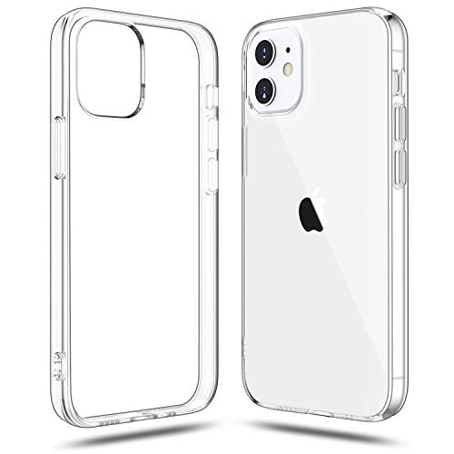 Shamo's Compatible with iPhone 12 and iPhone 12 Pro Case Clear (2020), Shockproof Bumper Cover Soft TPU Silicone Transparent Anti-Scratch, HD Crystal Clear