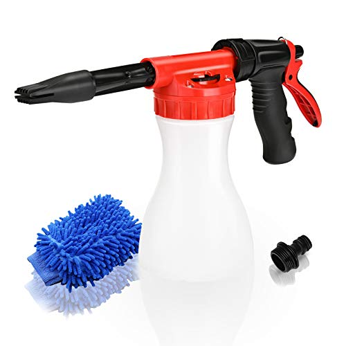 Juqiboom Car Foam Gun, Adjustable Ratio Dial Car Snow Soap Gun Fit Low Water Pressure Universal...