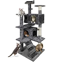 🍃Your feline friends need a cozy home of their own to take a nap, run around and just be as active as they want, Nova Cat Tree is sure to be their dream-come-true! Without going outside, your kitten or cat can enjoy the same fun of playing and relaxi...