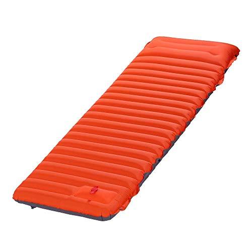 Al Aire Libre Camping Tipo de pie automático Cama Inflable portátil de la Playa Mat de la Playa Mat de Picnic Plegable TPU Cojín de Aire-Orange