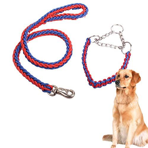 OUTANG Hundeleine Große Hunde Hundeleine Kleine Hund Hund führt Rutschseil Hund führt stark Leine für große Hunde Hundeleine für kleine Hunde red&Blue,M