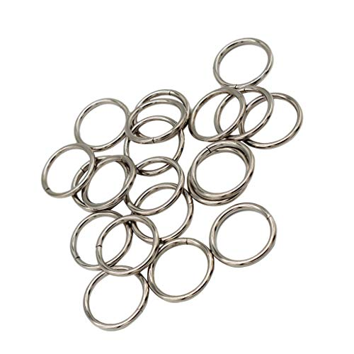 B Baosity 20er-Pack metallringe, O Ring, Rundring Zum Basteln und Handwerk