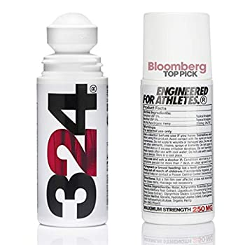 324 Hemp Oil Roll-On – Deeper & Faster Pain Relief Natural Recovery Anti-Inflammatory & Engineered for Athletes | WADA Approved |Vegan| Made in USA | 250mg