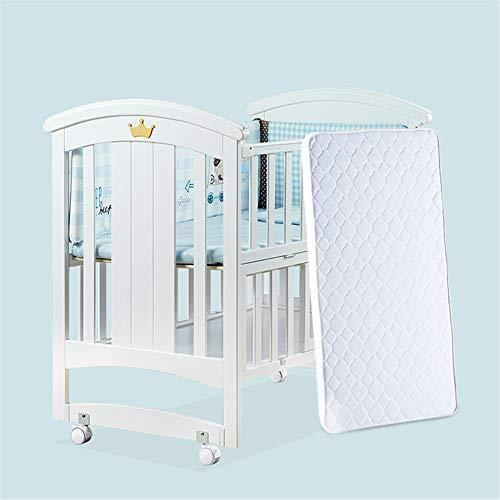 WDXIN Lit Bebe Portable Réglable en Hauteur avec Rouleau Peinture écologique Lit de Jeu pour bébé Multifonctionnel Convient aux bébés de 0 à 3 Ans,118 * 67cm