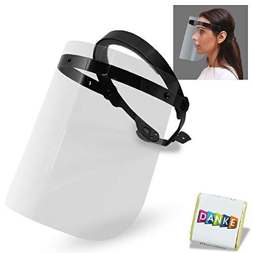 Schutzvisier zum Hochklappen | face Shield Maske | Visir Gesichtsschutz | Visier Schutzschild Gesicht | Spuckschutz | Gesichtsvisier aus Kunststoff | Unisize Plexiglas Schutz Visier (Schwarz) (5)