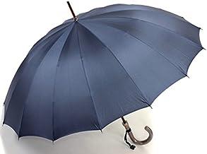 前原光栄商店 前原傘 紳士用 ダークブルー 焼籐