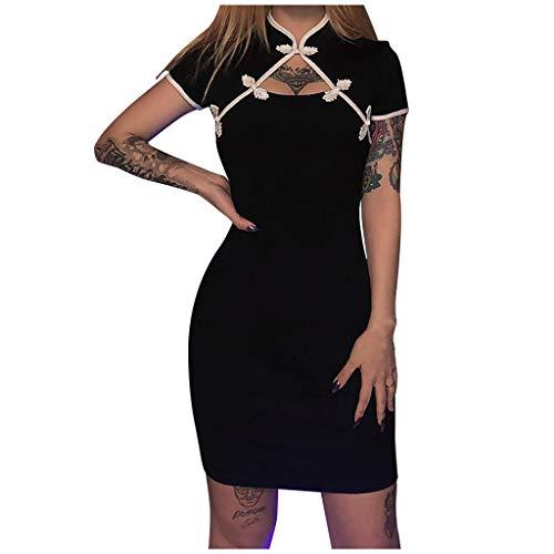 T-shirt gothique punk robes piéton maxi robe vintage rock moon imprimé top manches courtes robe d'été avec col mode loisirs magnifique streetwear fête reine costume adulte cosplay f-noir S