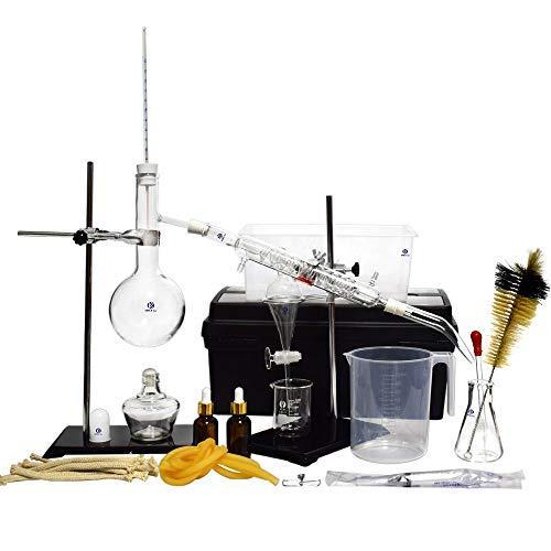 Chemie Labor Glaswaren Kit Ätherisches Öl Destillationsgerät lab Glas Kit Wissenschaftliches Experiment Gerät 500ml 44pcs Set