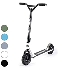 NO TERRAIN IS OFF LIMITS - The Osprey Dirt Scooter with ultra-strong but light full chromoly bars and aluminum deck is great for all terrains including dirt, grass, rough ground and trails and specialized for off-road riding OFF ROAD IN STYLE - 3-pie...