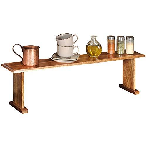 Kesper Küchenregal aus Akazie 76 x 15 x H22 cm, Holz Standregal als zusätzliche Ablagefläche, FSC-Akazie