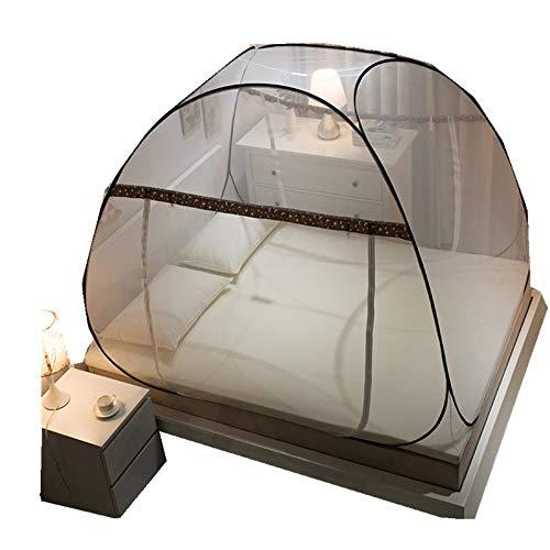 LLSTRIVE Pliable, Tente Pop up pour Lits et Chambre à Coucher,Pliage entièrement Automatique, Installation Libre, Porte Simple, Double Simple, moustiquaire de lit, lit O, lit de 1,2 m (4 Pieds)