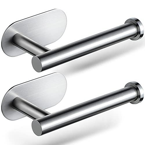 ZUNTO Aufkleber Toilettenpapierhalter 2 Stück Toilettenpapierhalter Edelstahl 304 Toilettenpapierhalter für Bad und Toilette