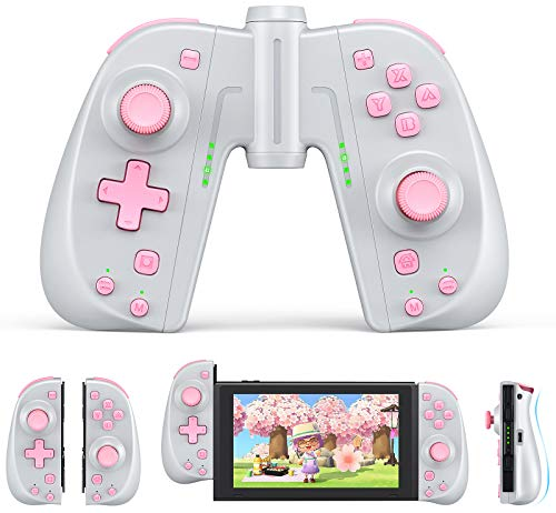 Vivefox Joy Pad Controller Compatible for Switch & Lite, Ergonomic L/R Wireless Joy Pad with Grip Connector and Turbo Function, Alternatives Joycon for Switch & Lite Joy-Con Switch Remote Controller