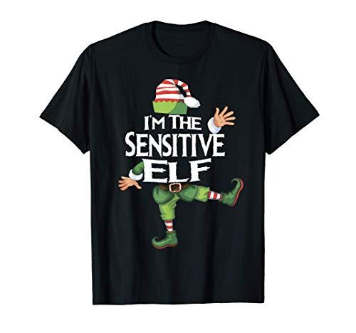 Sensitive Elf Shirt Matching Christmas Family Caring Xmas Camiseta
