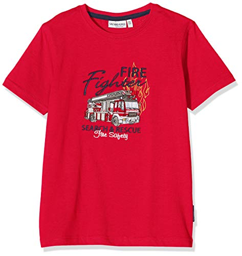 Salt & Pepper Jungen 03112135 T-Shirt, Rot (Fire Red 377), (Herstellergröße: 104/110)
