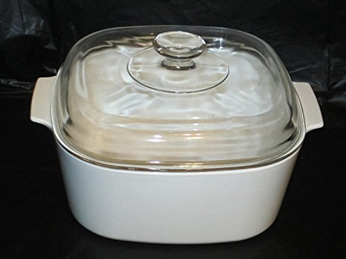 Corning Ware JUST WHITE 5 Liter Covered Casserole Baking Dish w/Lid