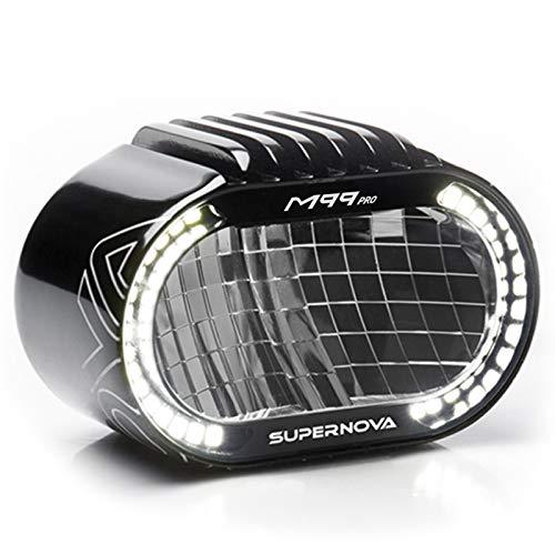 SUPER NOVA Unisex– Erwachsene M99 Pro Fahrradlicht, schwarz, 1100-1600 Lumen